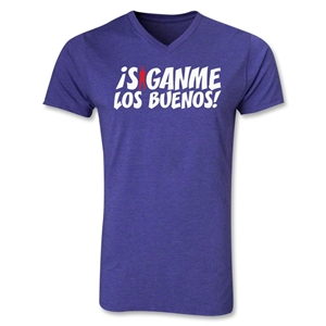 Chapulin Los Buenos V-Neck T-Shirt (Heather Purple)