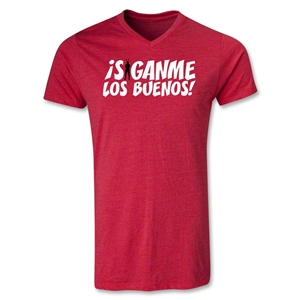 Chapulin Los Buenos V-Neck T-Shirt (Heather Red)