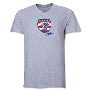 USA Sevens Vegas Rugby V-Neck T-Shirt (Gray)