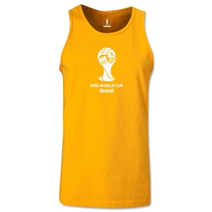 2014 FIFA World Cup Brazil(TM) Official Emblem Men's Tank Top (Gold)