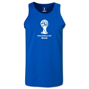2014 FIFA World Cup Brazil(TM) Official Emblem Men's Tank Top (Royal)
