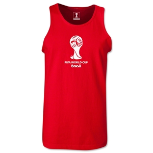2014 FIFA World Cup Brazil(TM) Official Emblem Men's Tank Top (Red)