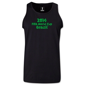2014 FIFA World Cup Brazil(TM) Official Logotype Men's Tank Top (Black)