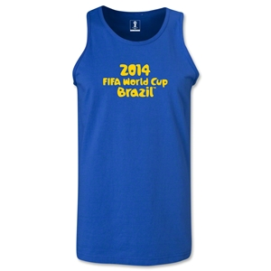 2014 FIFA World Cup Brazil(TM) Official Logotype Men's Tank Top (Royal)