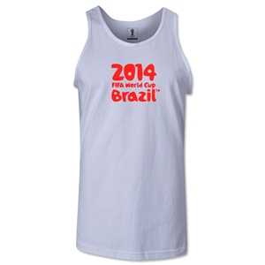 2014 FIFA World Cup Brazil(TM) Official Logotype Men's Tank Top (White)