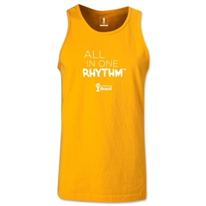 2014 FIFA World Cup Brazil(TM) All In One Rhythm Men's Tank Top (Gold)
