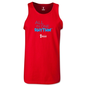 2014 FIFA World Cup Brazil(TM) All In One Rhythm Men's Tank Top (Red)