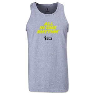 2014 FIFA World Cup Brazil(TM) All In One Rhythm Men's Tank Top (Grey)