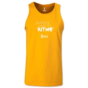 2014 FIFA World Cup Brazil(TM) All In One Rhythm Portuguese Men's Tank Top (Gold)