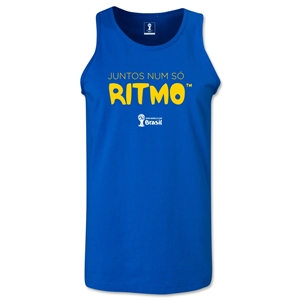 2014 FIFA World Cup Brazil(TM) All In One Rhythm Portuguese Men's Tank Top (Royal)