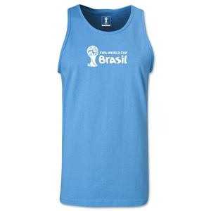 2014 FIFA World Cup Brazil(TM) Official Emblem Landscape Men's Tank Top (Sky Blue)