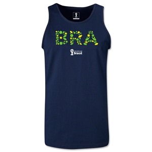 Brazil 2014 FIFA World Cup Brazil(TM) Men's Elements Tank Top (Navy)