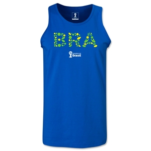 Brazil 2014 FIFA World Cup Brazil(TM) Men's Elements Tank Top (Royal)