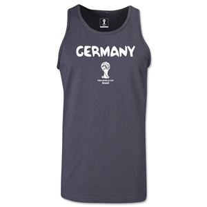 Germany 2014 FIFA World Cup Brazil(TM) Men's Core Tank Top (Dark Grey)
