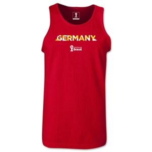 Germany 2014 FIFA World Cup Brazil(TM) Men's Palm Tank Top (Red)