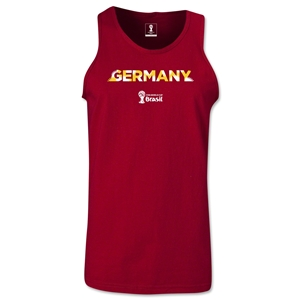Germany 2014 FIFA World Cup Brazil(TM) Men's Palm Tank Top (Cardinal)