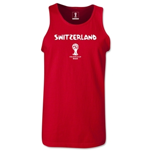 Switzerland 2014 FIFA World Cup Brazil(TM) Men's Core Tank Top (Red)
