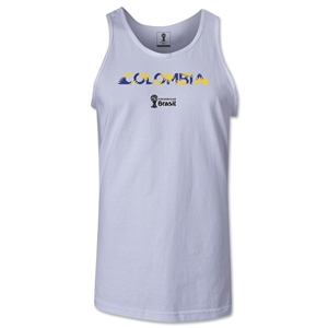 Colombia 2014 FIFA World Cup Brazil(TM) Men's Palm Tank Top (White)