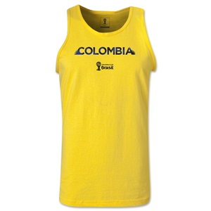 Colombia 2014 FIFA World Cup Brazil(TM) Men's Palm Tank Top (Yellow)