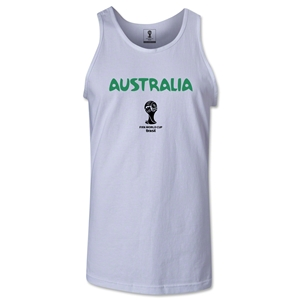 Australia 2014 FIFA World Cup Brazil(TM) Men's Core Tank Top (White)