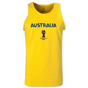 Australia 2014 FIFA World Cup Brazil(TM) Men's Core Tank Top (Yellow)