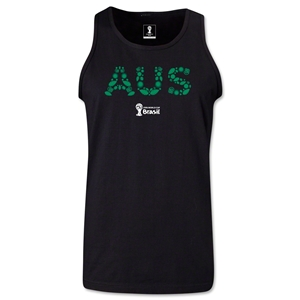 Australia 2014 FIFA World Cup Brazil(TM) Men's Elements Tank Top (Black)