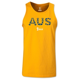 Australia 2014 FIFA World Cup Brazil(TM) Men's Elements Tank Top (Gold)