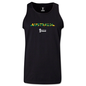 Australia 2014 FIFA World Cup Brazil(TM) Men's Palm Tank Top (Black)