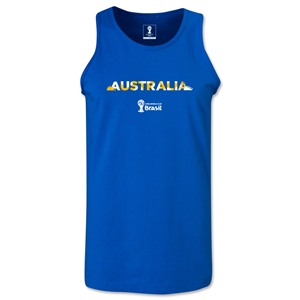Australia 2014 FIFA World Cup Brazil(TM) Men's Palm Tank Top (Royal)