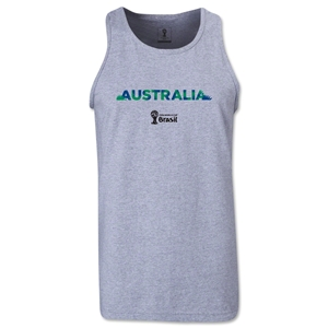 Australia 2014 FIFA World Cup Brazil(TM) Men's Palm Tank Top (Grey)