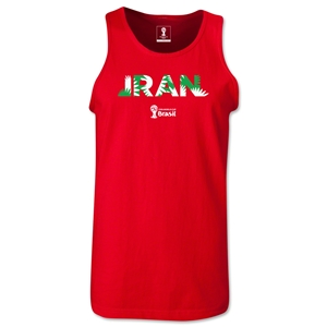 Iran 2014 FIFA World Cup Brazil(TM) Men's Palm Tank Top (Red)
