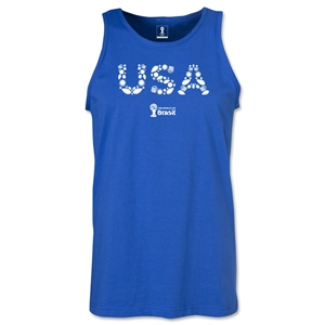 USA 2014 FIFA World Cup Brazil(TM) Men's Elements Tank Top (Royal)