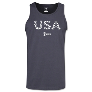 USA 2014 FIFA World Cup Brazil(TM) Men's Elements Tank Top (Dark Grey)