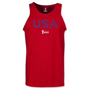 USA 2014 FIFA World Cup Brazil(TM) Men's Elements Tank Top (Red)