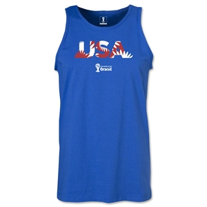 USA 2014 FIFA World Cup Brazil(TM) Men's Palm Tank Top (Royal)