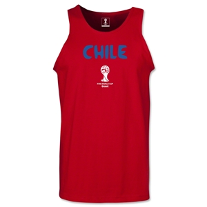 Chile 2014 FIFA World Cup Brazil(TM) Men's Core Tank Top (Red)
