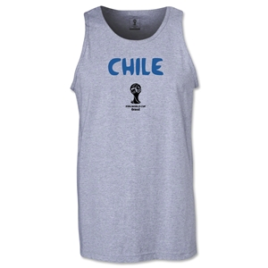 Chile 2014 FIFA World Cup Brazil(TM) Men's Core Tank Top (Grey)