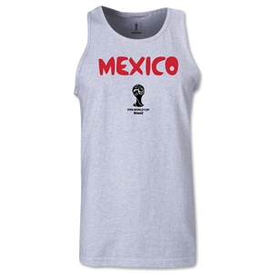 Mexico 2014 FIFA World Cup Brazil(TM) Men's Core Tank Top (Ash Gray)