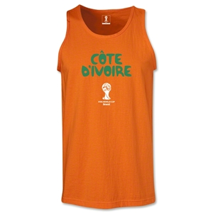 Cote d'Ivoire 2014 FIFA World Cup Brazil(TM) Men's Core Tank Top (Orange)