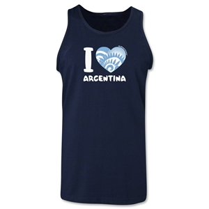 I Heart Argentina 2014 FIFA World Cup Brazil(TM) Men's Tank Top (Navy)