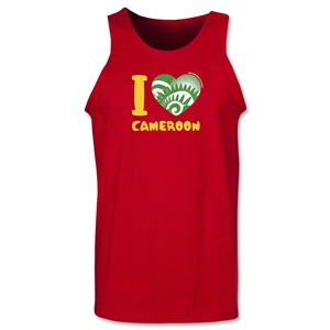 I Heart Cameroon 2014 FIFA World Cup Brazil(TM) Men's Tank Top (Red)