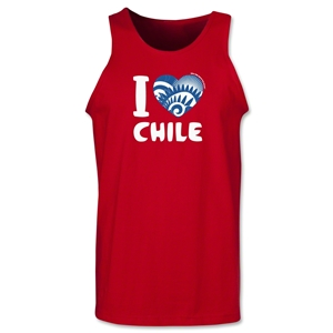 I Heart Chile 2014 FIFA World Cup Brazil(TM) Men's Tank Top (Red)
