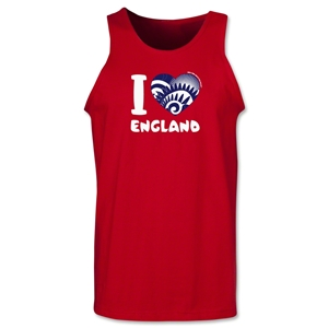 I Heart England 2014 FIFA World Cup Brazil(TM) Men's Tank Top (Red)