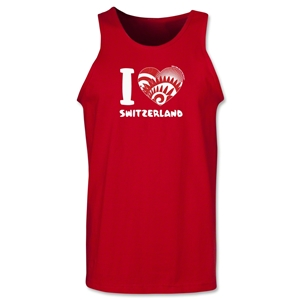 I Heart Switzerland 2014 FIFA World Cup Brazil(TM) Men's Tank Top (Red)