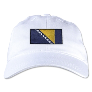 Bosnia-Herzegovina Unstructured Adjustable Cap (White)