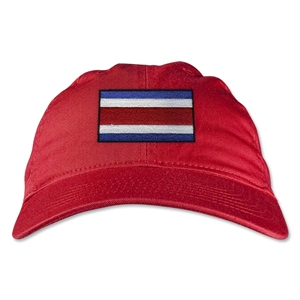 Costa Rica Unstructured Adjustable Cap (Red)