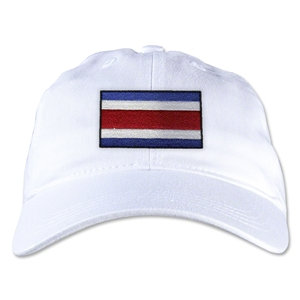 Costa Rica Unstructured Adjustable Cap (White)