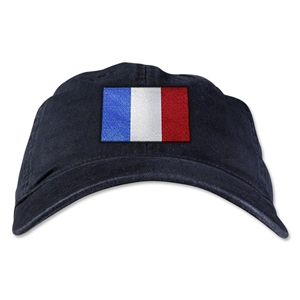 France Unstructured Adjustable Cap (Black)