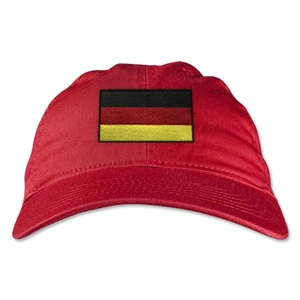 Germany Unstructured Adjustable Cap (Red)