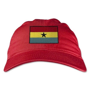 Ghana Unstructured Adjustable Cap (Red)